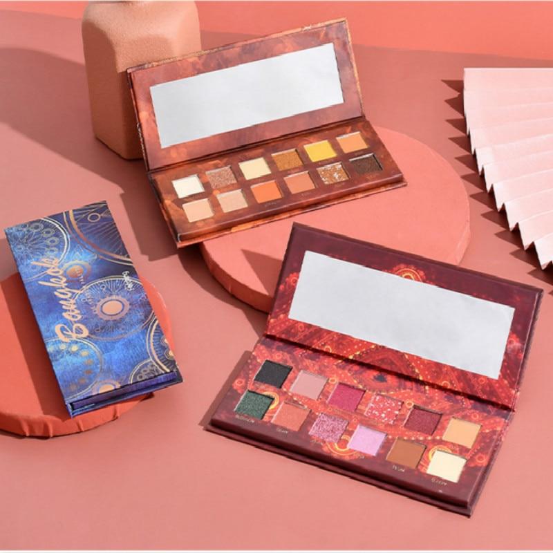 12 farben Matte Schimmer Glitter Lidschatten Make-Up Palette Lidschatten Pallete Perle Lange Anhaltende Make-Up Kosmetische Focallure TSLM1