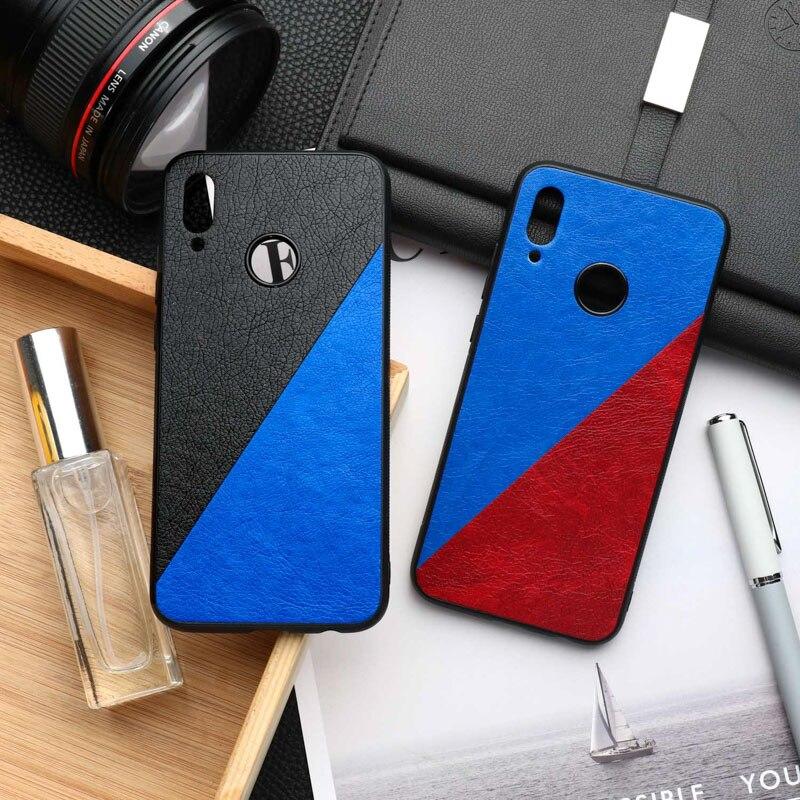 Honor 8X caso del cuero de la PU parachoques para Huawei Honor 10 Lite 10i 20 Pro jugar 8A 3 8C 7A 7C 8 9 9X Max nota ver V30 cubre