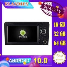 Nieuwste Auto Android 10.0 Audio Video System Fit Voor Audi A3 2006 2007 2008 2009-2013 Auto Navigatie Radio multimedia Dvd Functie
