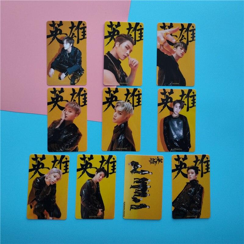 10 pièces NCT 127 Mini Album Bus cristal carte autocollants auto-fait photocarte papier néo Zone Taeyong Lee Dong Hyuk Zheng Jae Hyun