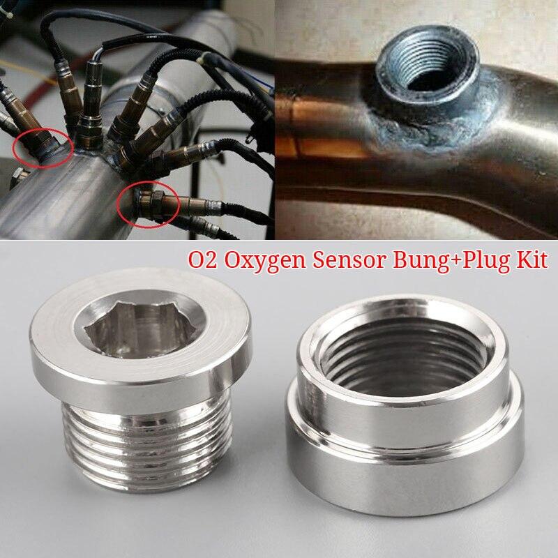 2 uds Universal O2 extensión de sensor de oxígeno adaptador tapón M18x1.5 Accesorios