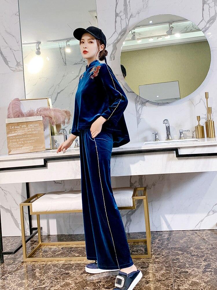 Улучшенная Женская одежда в китайском стиле, китайская ретро-одежда в китайском стиле, китайский чонсам, топ, костюм-двойка