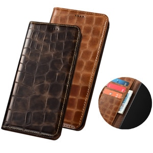 Crocodile grain genuine leather magnetic wallet phone bag for OPPO Find X2 Pro/OPPO Find X2/OPPO Find X2 Lite phone case pocket