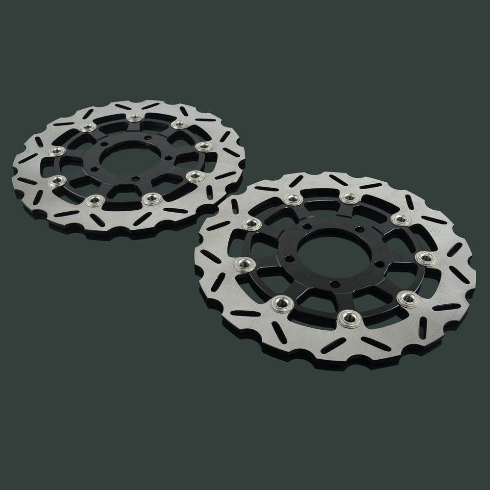 2PCS Motorcycle Floating Brake Discs Rotor For KAWASAKI NINJA ZX6RR ZX6R ER6F Z750 Z750R Z1000 Z1000SX ZX-10R VERSYS 650 750