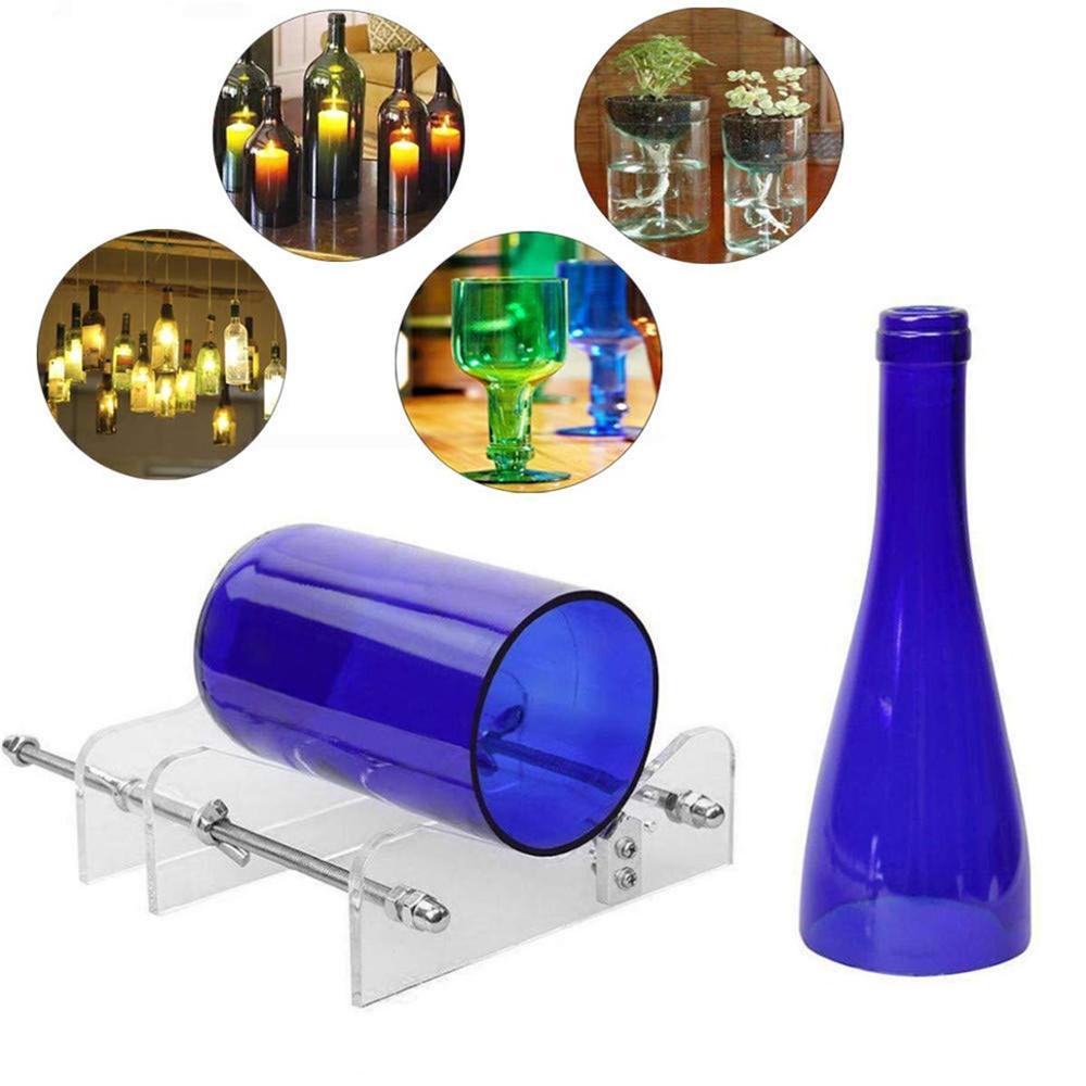 Conjunto de cortadores de botellas de vidrio, herramientas manuales de corte profesional DIY, seguridad para botellas de vidrio para cerveza, máquina de afilado rotatorio de corte