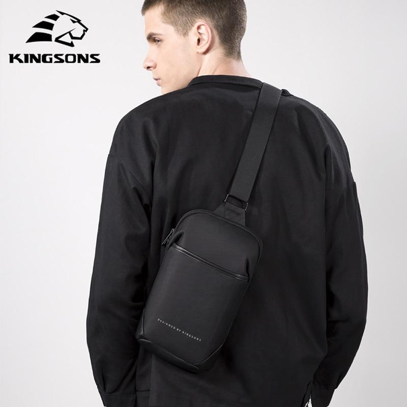 Kingson جديد متعدد الوظائف حقيبة كروسبودي مكافحة سرقة حقائب كتف متنقلة الذكور مقاوم للماء رحلة قصيرة حقيبة صدر للرجال حزمة