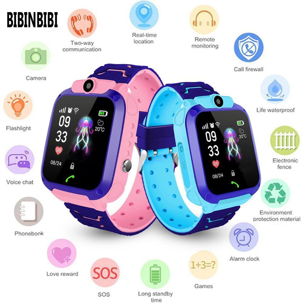 Reloj inteligente profesional para niños, con cámara de pantalla táctil, reloj inteligente con posicionamiento GPS, resistente al agua, reloj inteligente para niños, 2020