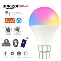Ampoule intelligente Wifi  E27 B22  Tuya  9W RGBCW  commande vocale  fonctionne avec Alexa Google Home