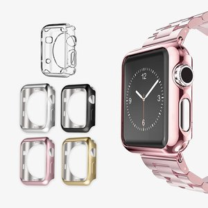 Bumper Protector for iwatch, Soft TPU Protective Case, Ultra Thin, Scratch Resistant, for Apple Watch Series 5 4 3 2 1