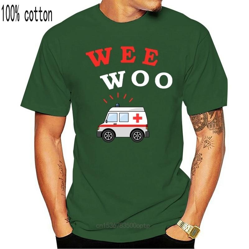 New Wee Woo Ambulance Amr Funny Ems Emt Paramedic Men T-Shirt Short Sleeve 2021 Funny Print T Shirt Men Hot Brand Clothing