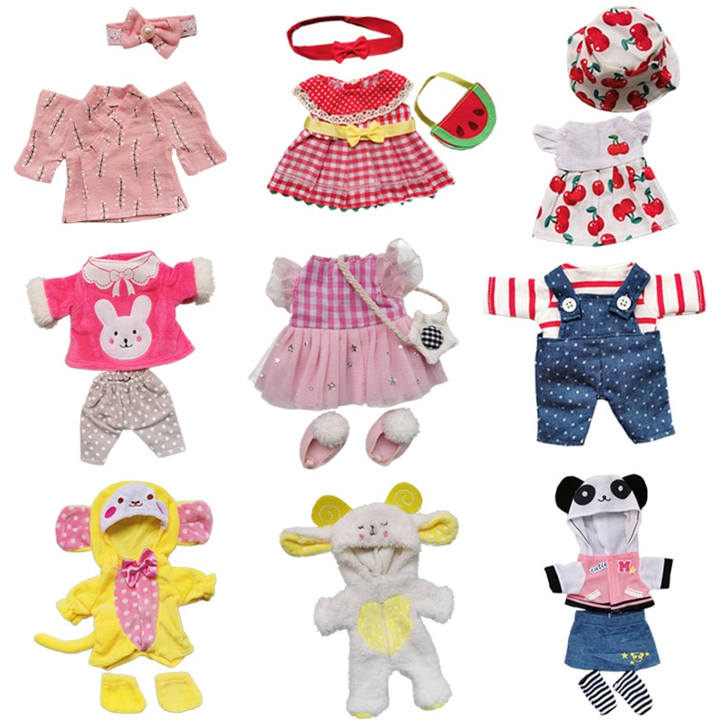 Doll Clothes Fit 25cm Baby Doll Accessories 1/6 BJD Doll New Born Doll Outfits Cute Dress Headwear S