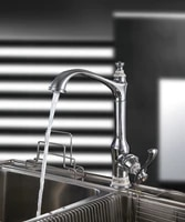 high quality brass kitchen sink faucet water long spout chrome plated popular delicate kitchen mixer faucet