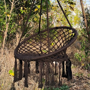 Hammock Chair Swing, Rattan Chair Hanging Hammock Swing Chairs for Indoor/Outdoor Home Patio Porch Yard Garden Deck,440 Pound Ca