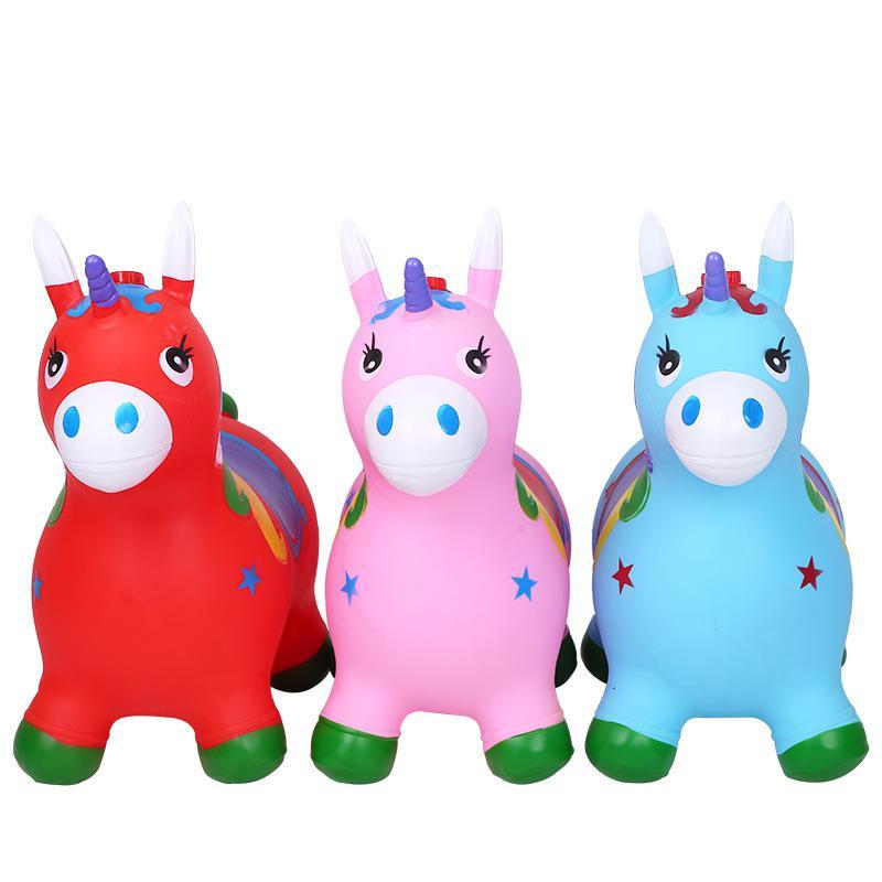Kuulee criança inflação cavalo hopper estável plásticos bebê engrossar equitação jumping cavalo criança kangoo jumper