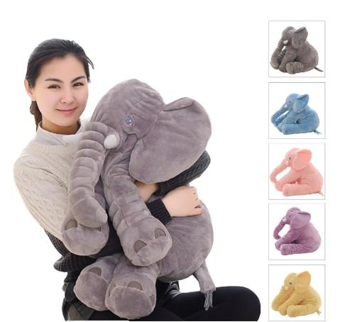 Прямая поставка 40/60 см, подушка с изображением слона, мягкая, для сна, мягкие животные, плюшевые игрушки, детские игрушки, подарки для детей