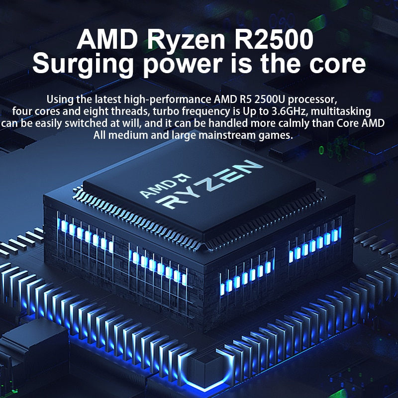 15 inch AMD Ryzen DDR4 36GB M.2 SSD 1TB Ultrabook Metal Computer 2.4G/5.0G Bluetooth Ryzen R5 2500U windows 10 Pro gaming laptop