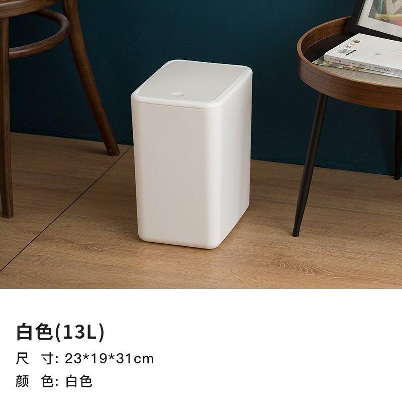 Bedroom Modern Trash Bin Plastic Large Kitchen Living Room Trash Can Toilet Bin Home with Lid Cubo Basura Waste Bin DJ60LT enlarge