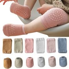 Summer Baby Knee Pads Socks Set Solid Color Anti Slip Socks Kneecap Kid Crawling Safety Floor Socks