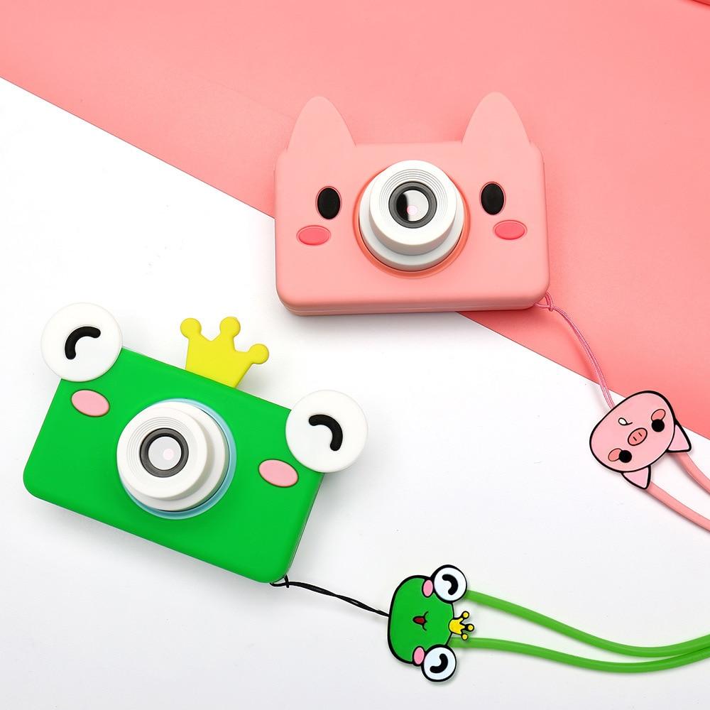 Kids Toys Kamera Digital Camera HD 32GB Memory Card Included Cartoon Animal Educational Toys For Children Birthday Gift Boy Girl