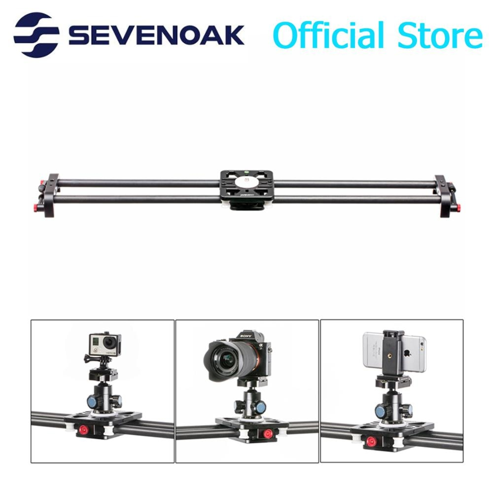 Sevenoak SK-CFS80 31-inch Feather-Light Carbon Fiber Track Slider with Roller Bearing Camera Mounting Platform