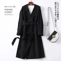 windbreaker womens mid long 2021 new korean mid long knee temperament coat popular spring and autumn coat early spring