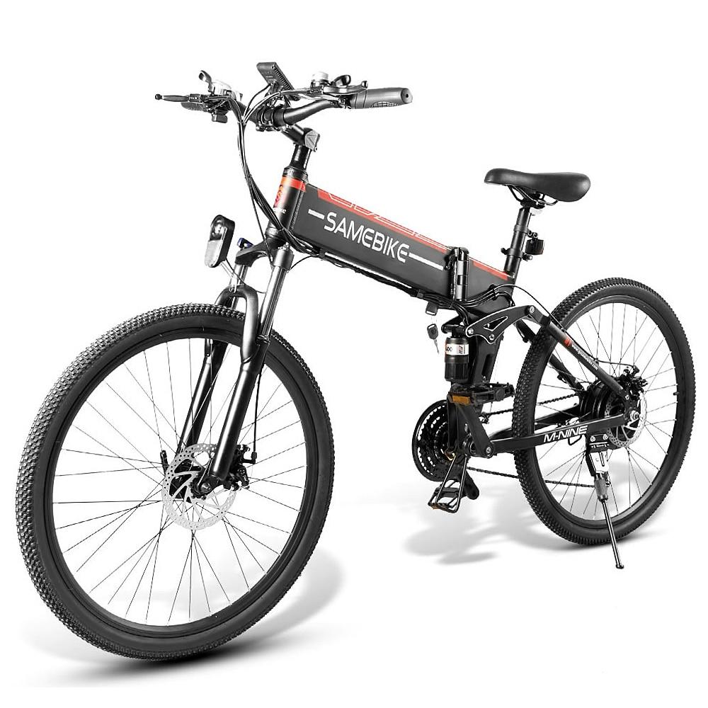 Ebike bicicleta eléctrica plegable de 26 pulgadas, bicicleta eléctrica asistida, bicicleta eléctrica, borde de radios, ciclomotor 48V 500W