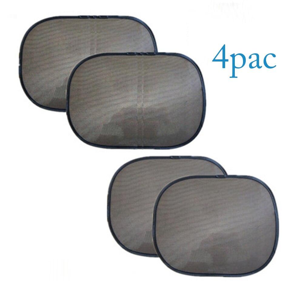4х черные боковые автомобильные солнцезащитные оттенки, солнцезащитные очки для заднего стекла, сетчатый козырек, экранный интерьер, УФ-защ...