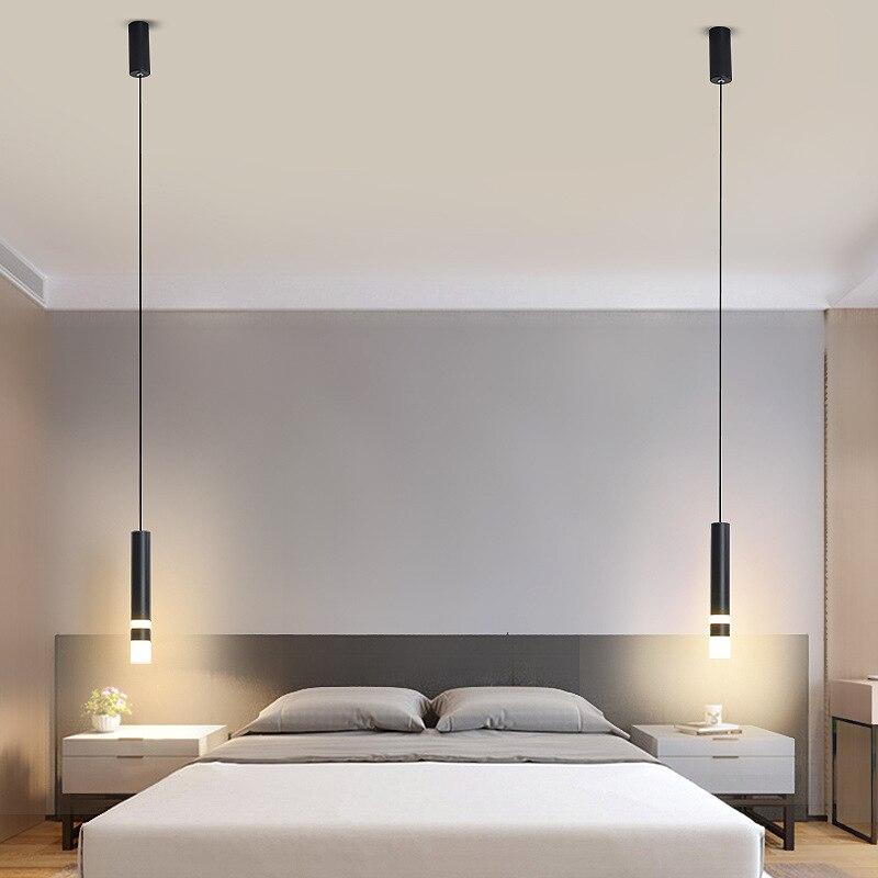 Hartisan الحديثة قلادة LED أضواء مطعم مقهى بار غرفة المعيشة السرير قلادة مصباح حائط الخلفية مصابيح Haning