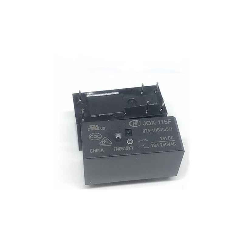 Caliente nuevo relé de 24V JQX-115F-024-1HS3 JQX-115F 024-1HS3 HF115F 024-1HS3 HF115F-024-1HS3 24VDC DC24V 24V 16A 250VAC 6PIN