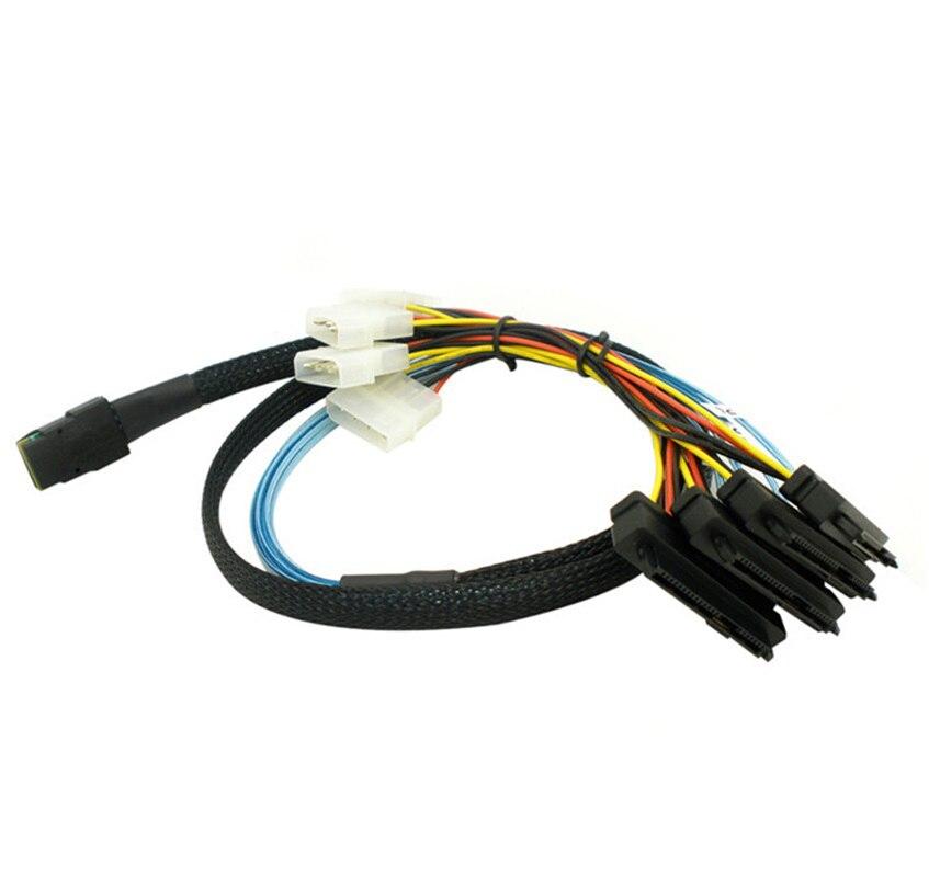 Мини-sas Sata силовые кабели для HDD сервера дисплей карты 4i SFF-8087 36Pin до 4 SAS 29Pin Sff 8482 + 4pin кабель