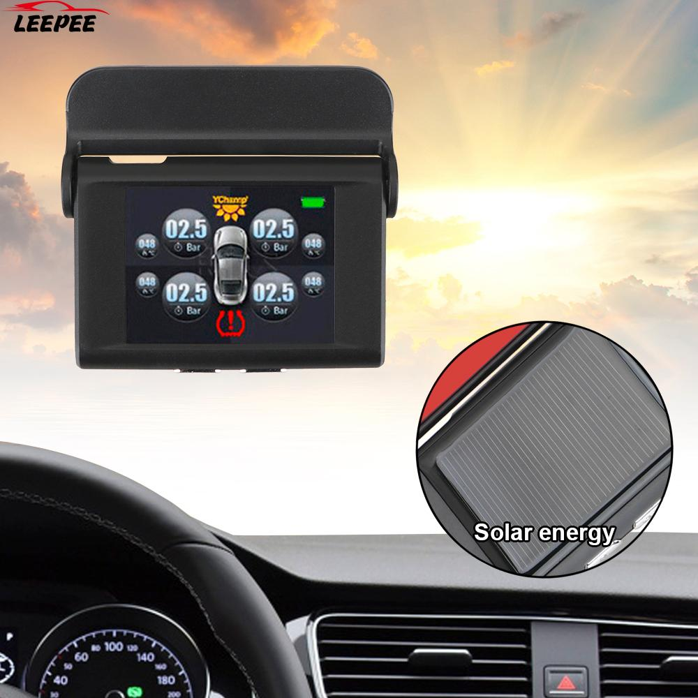 Tyre Pressure Smart Car TPMS USB Solar Power Digital LCD Display Auto Security Alarm Systems Tyre Pr