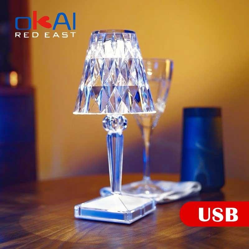 Фото - Italian Design Acrylic Kartell Battery Table Lamp USB Rechageable LED Night Light Touch Sensor Flower Effection Room Hotel Decor italian interior design