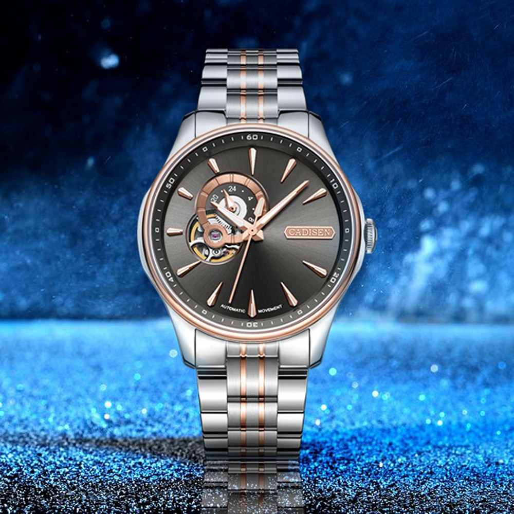 CADISEN-ساعة ميكانيكية أوتوماتيكية للرجال ، ساعة يد أوتوماتيكية ، هيكل عظمي ، توربيون ، اليابان ، NH39A ، 2020 ، جديد ، 2020