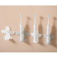electric toothbrush holder punch free wall mounted bathroom shelf bathroom dental storage shelf brush holder