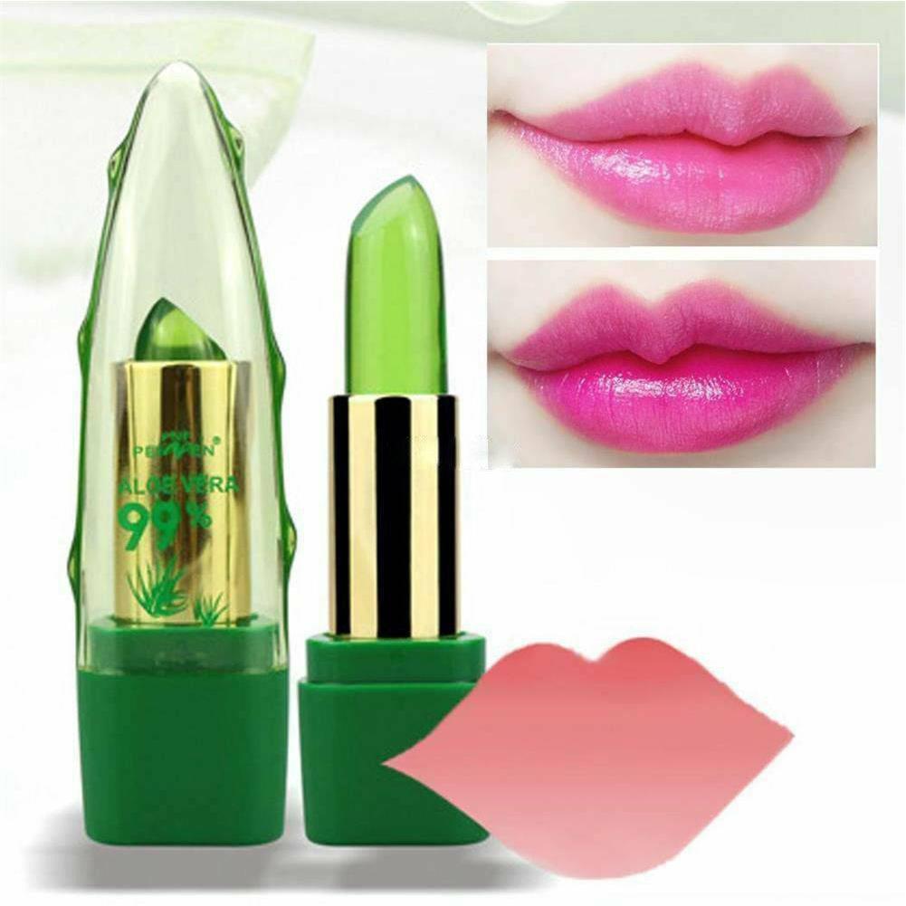 AliExpress - Aloe Vera Lip Balm Color Changing Lipstick Aloe Gel Plant Change Lip Care Chameleon Balm Jelly Lip Temperature Lipstick S1Y7