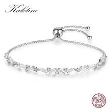 KALETINE mode 925 Bracelet en argent sterling clair Zircon cubique Tennis breloque Bracelets pour femme bijoux mes commandes aliexpress