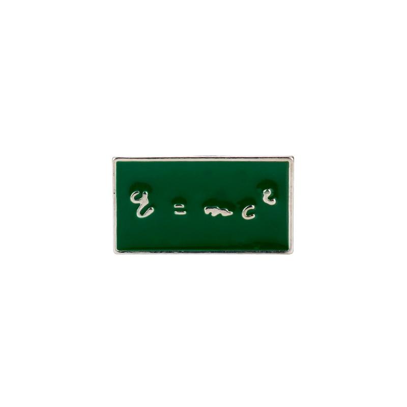 Fórmula de muerte de Einstein E = MC 2 alfileres de esmalte broches Einstein figura insignia solapa Pin mochila bolsas para mujeres los hombres de recuerdo