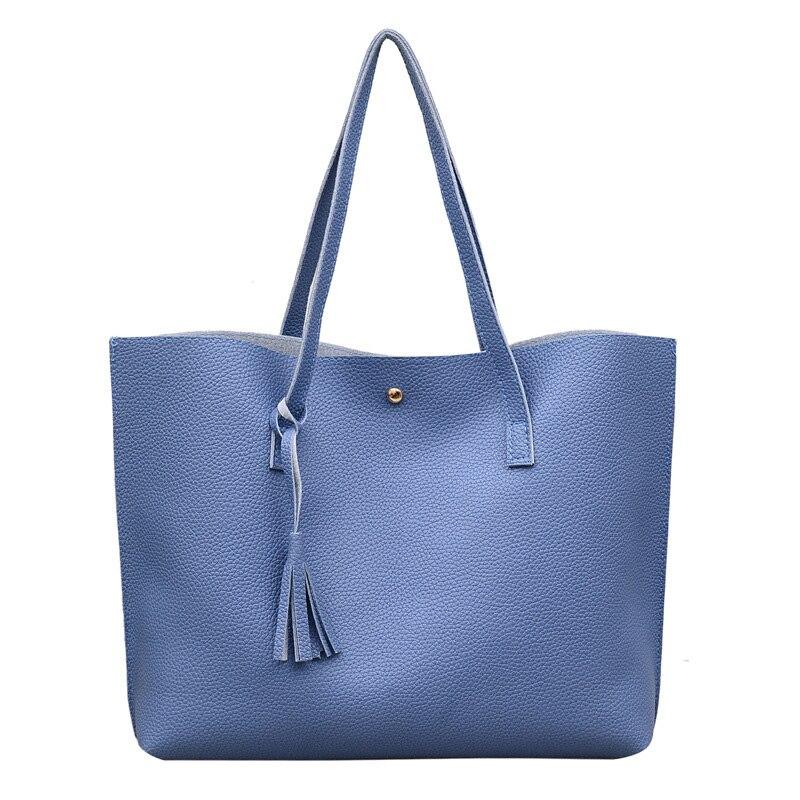 Bolso de mano con flecos, bolso de hombro portátil a la moda, duradero, PU, gran capacidad, bolsos de mujer, 44*10*31cm
