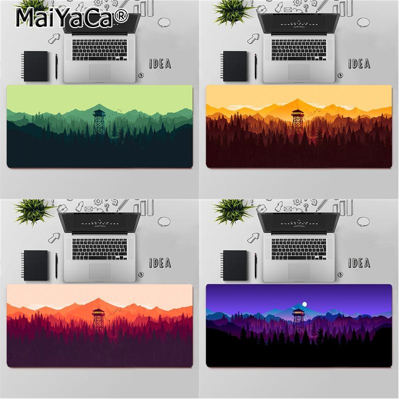 MaiYaCa Top Quality Deep forest firewatch2 Comfort Mouse Mat Gaming Mousepad Free Shipping Large Mouse Pad Keyboards Mat babaite high quality vikings laptop gaming mice mousepad free shipping large mouse pad keyboards mat