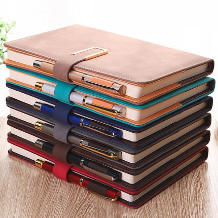 A5 Metal Buckle Planner Soft Notebook with Bookmark Journal Notepad Organizer Diary Agenda 365 Days Note Books Office Stationery