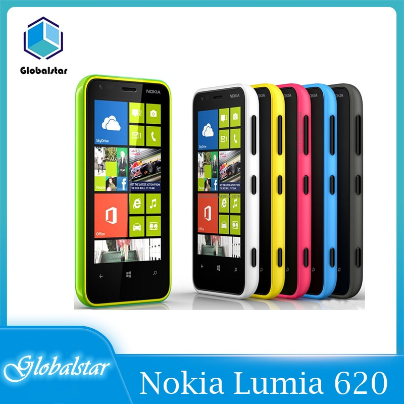 NOKIA Lumia 620 restaurado teléfono móvil GSM 2G/3G banda Dual 3G Wifi...