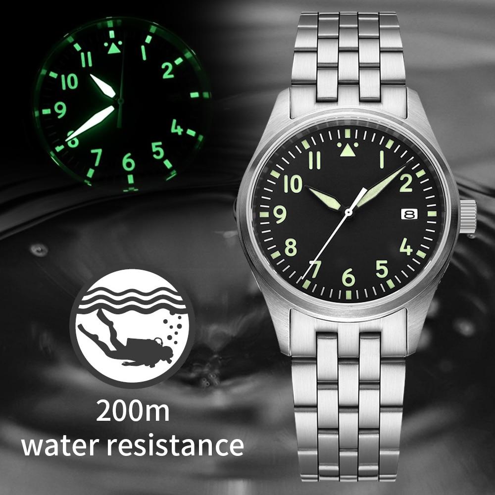 steel dive watches men NH35 mechanical diver watch 200m sapphire automatic watches men self wind mechanical wrist watch man top