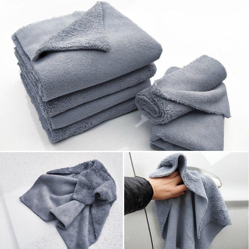 Toalha de microfibra, pano de limpeza de prato de cozinha, toalha de microfibra, almofadas de secagem, para lavar carro, 40x40cm 380gsm premium