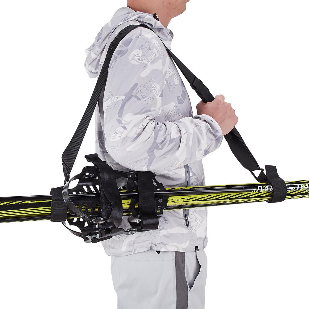 горнолыжные movement skis палки movement skis freeski 2 pcs poles серый 110 135 Snowboard Strap Ski Tote Skis And Poles Shoulder Carrier Adjustable Ski Backpack Sling Strap For Outdoor Sport Skiing Accessory