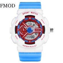 FMOD Fashion Women Sport Watches Waterproof Ladies Student Multifunctional Wristwatch LED Digital Qu