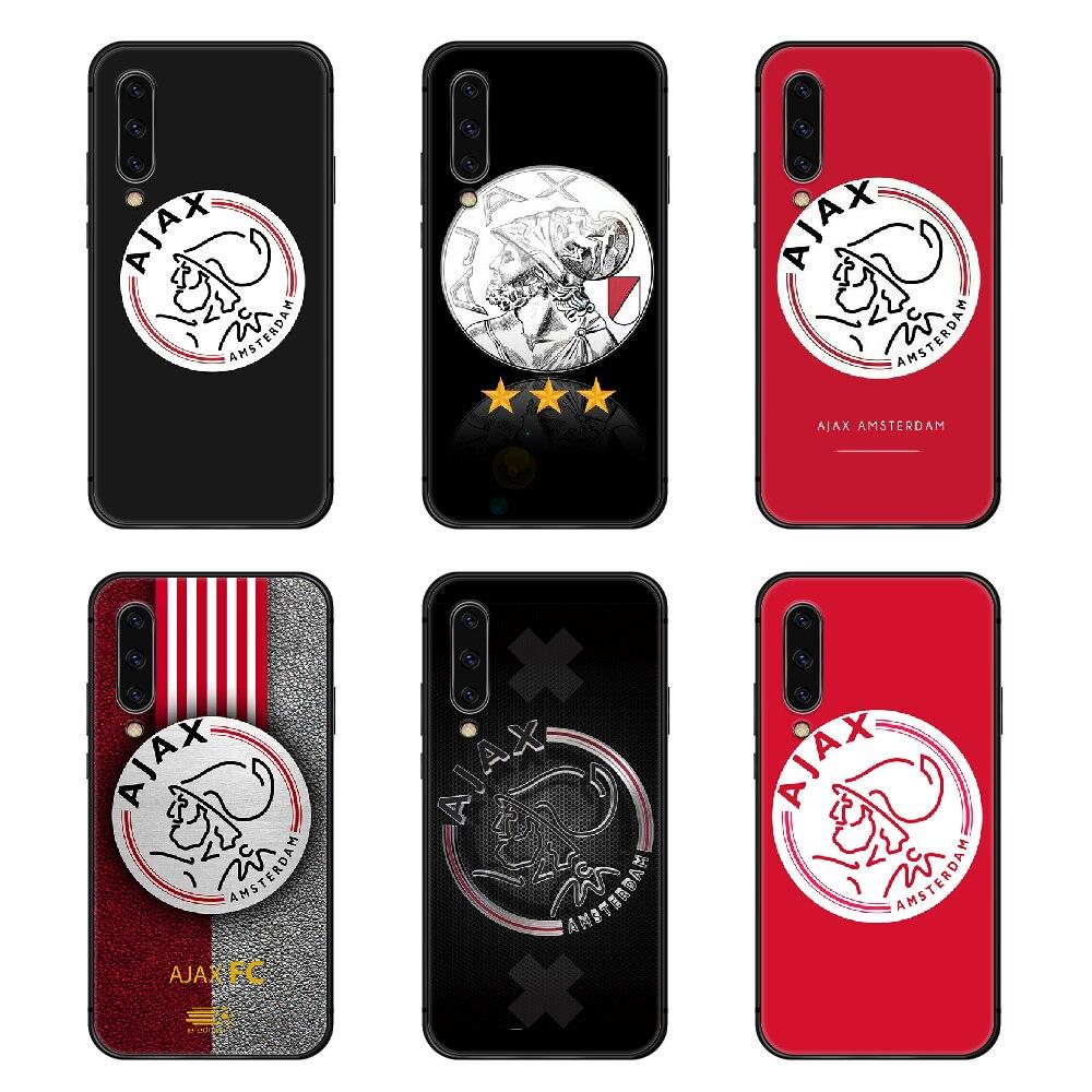 Amsterdamsche futebol clube ajax telefone capa para samsung galaxy a10 a20 a30 e a40 a50 a51 a70 a71 j 5 6 7 8 s escudo preto