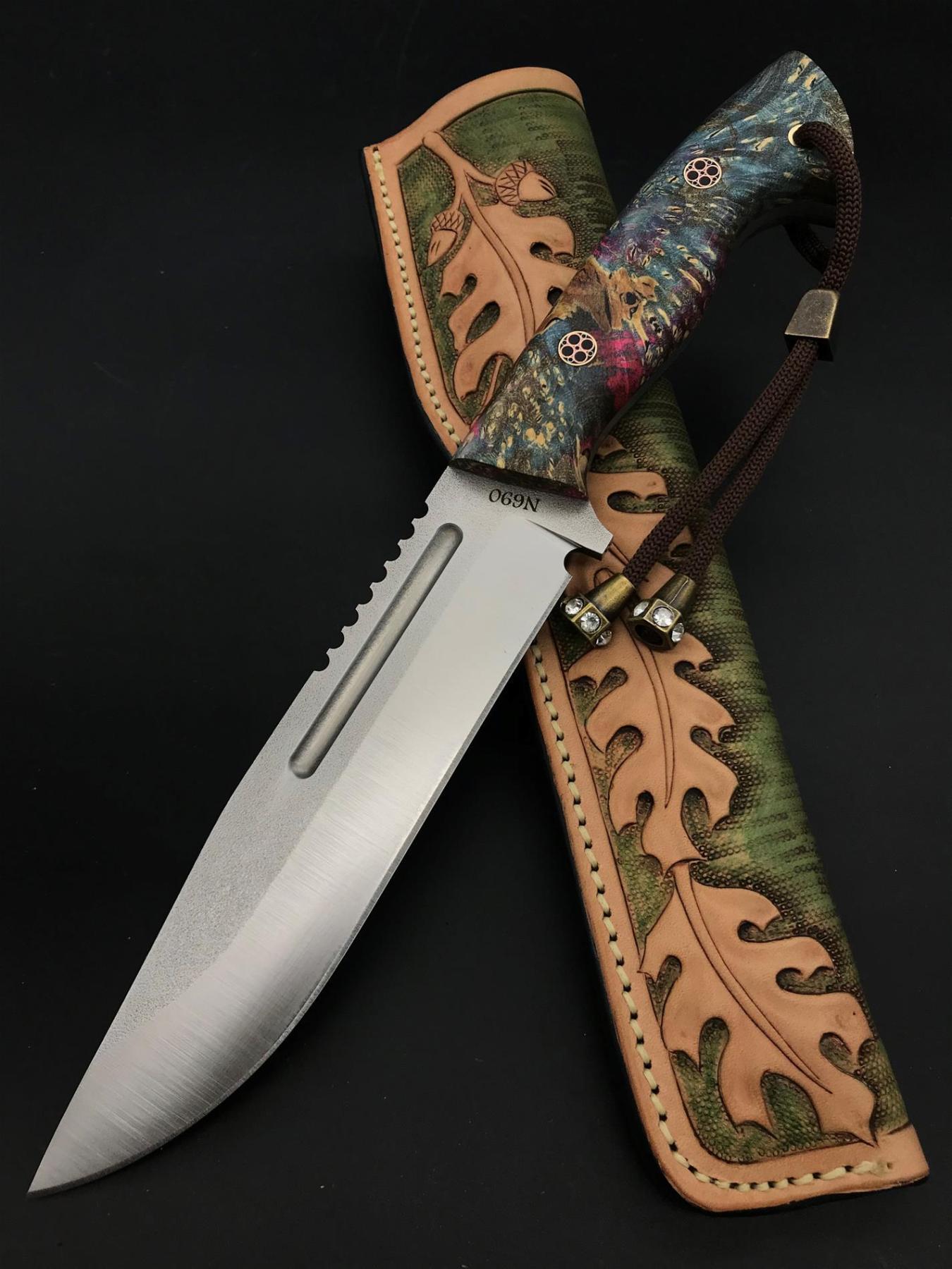 Handmade N690 Nature Knife TK07