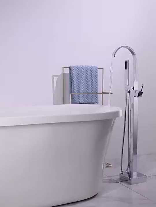 يقف الحمام دش الحنفية الطابق صنبور حوض استحمام مع دش النحاس