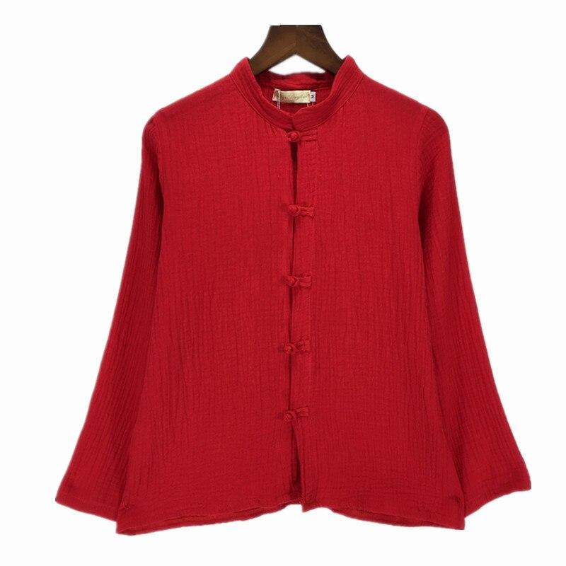 Женские рубашки размера плюс S-6XL с длинным рукавом, хлопок, лен, джемпер, 12 цветов, верхняя одежда