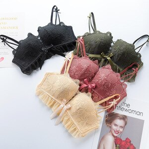 Sexy Lingerie Bras Wireless Push Up Women Bra Lace Floral Underwear Comfort Breathable Girl Brassiere Female Bralette